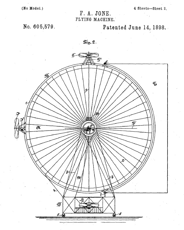 An Early And Patented Flying Saucer 1898