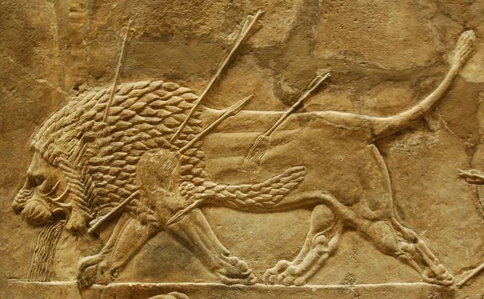 Lion hunters of Niniveh - reliëf