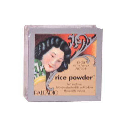 Palladio Palladio polvo arroz beige Polvo de Arroz Beige Palladio, absorbe la grasa dejando la piel mate, se puede usar solo o para sellar el maquillaje,