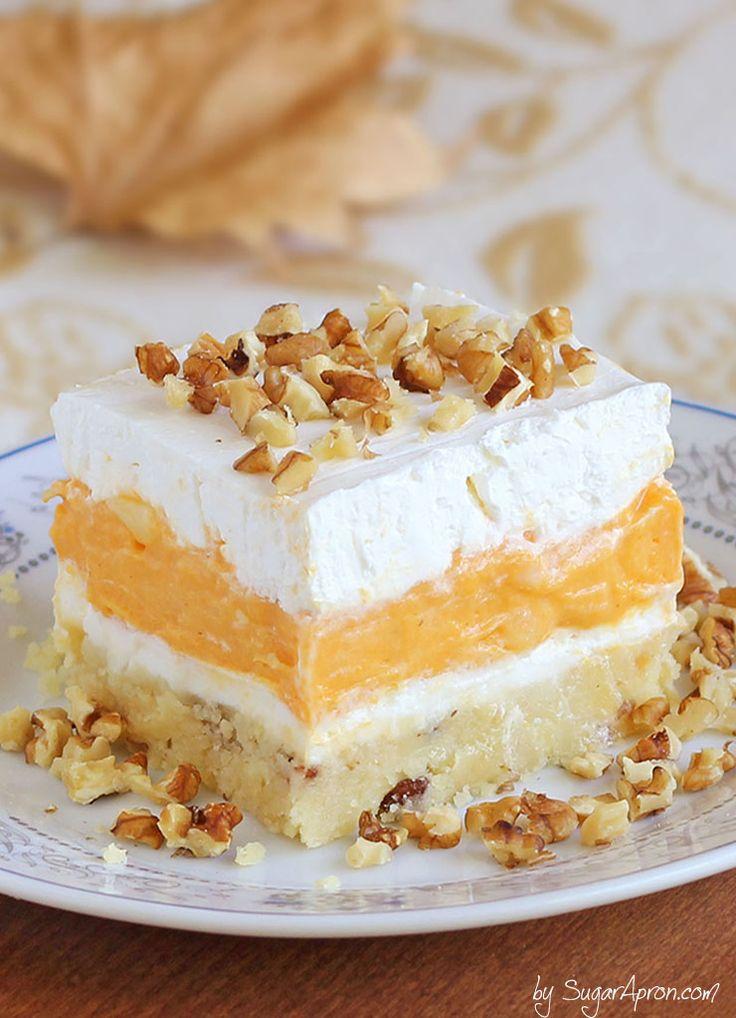 Pumpkin Delight recipe from Sugar Apron. This looks amazing!!