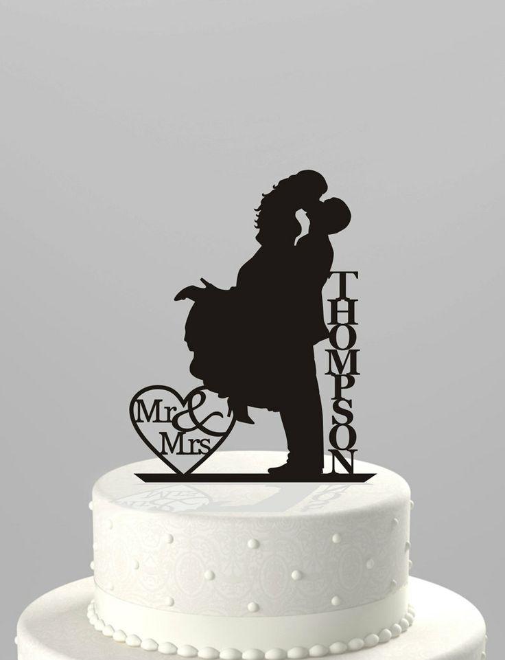 Wedding Cake Topper Silhouette Couple Mr & Mrs by TrueloveAffair, $22.00