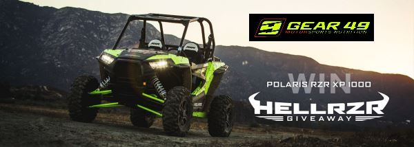 Polaris RZR XP 1000 Up For Grabs... Can You Handle The Power & Strength That Comes From Being BULLETPROOF with Justin Peck & Gear49.com? Now is your chance to enter to win a Polaris RZR XP 1000. But you have to enter to win. (no purchase necessary to enter or win) visit gear49promo.us for complete rules.