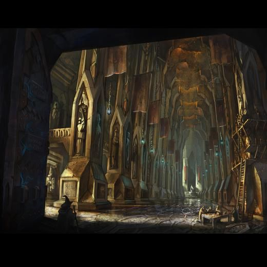 """The Hall of Durin-- Winner in Location category of """"The Hobbit Design Contest"""""""