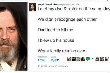 "Star Wars Fans Need To See This ""Very Lonely Luke"" Parody Twitter Account"