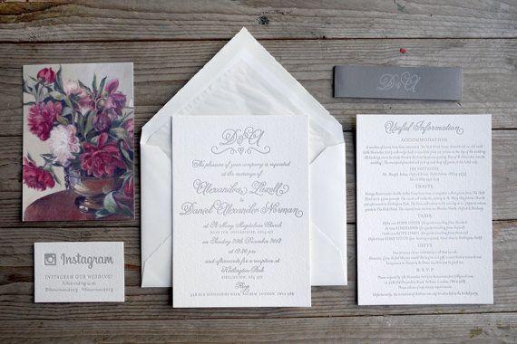 Romantic script invitation