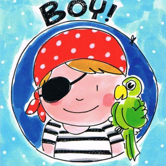 Blond kaart Baby boy