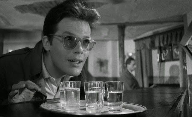 """Zbigniew Cybulski in """"Ashes and Diamonds"""" (1958, Andrzej Wajda) / Cinematography by Jerzy Wójcik"""