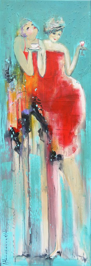 Ingeborg Herckenrath - connected lady's #art #party #kunst