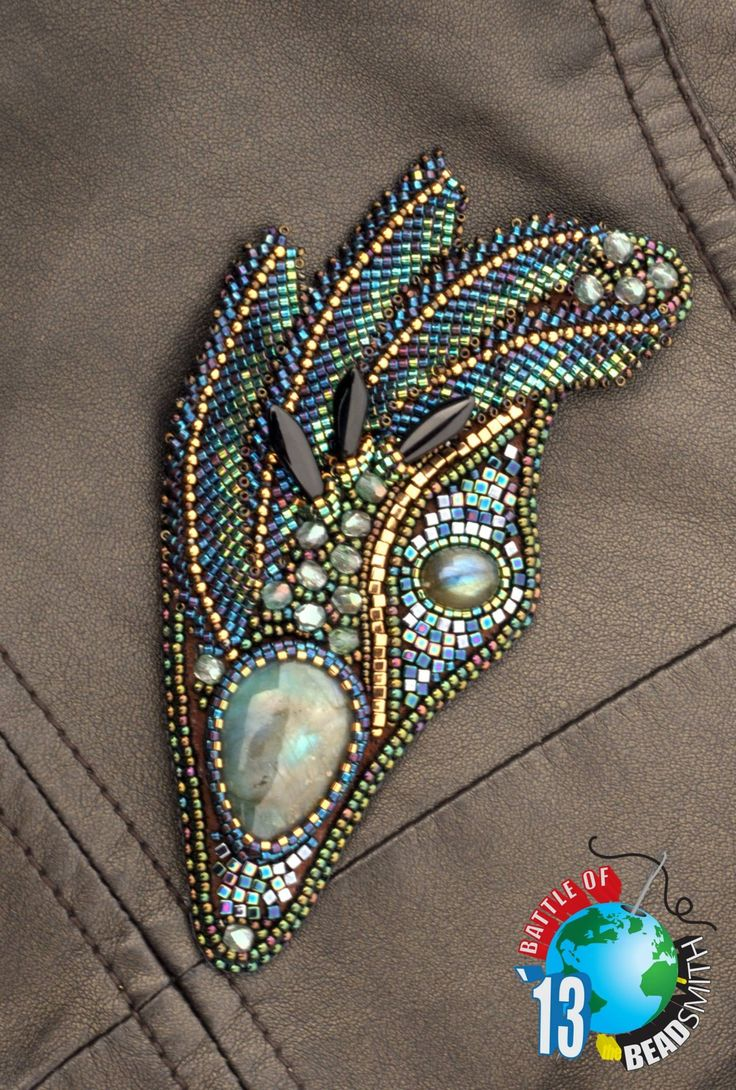 Beads embroidery.