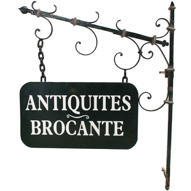 1stdibs - French Painted Wrought Iron Antique Shop Sign explore items from 1,700  global dealers at 1stdibs.com