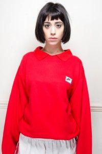 Vintage Red Nike Sport Sweater