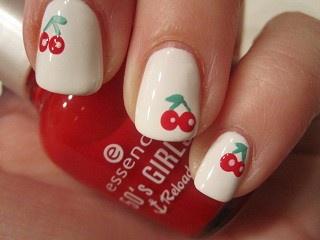 #nails #nailart #kersen #cute