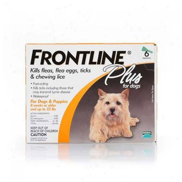 Frontline 11-22-6PK-PS Flea Control Plus for Dogs And Puppies 11-22 lbs 6 Pack