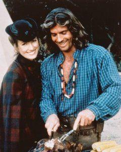 Joe Lando as: (Sully) and Jane Seymour as: (Dr. Michaela Quinn) Behind the scenes ~ Dr. Quinn Medicine Woman