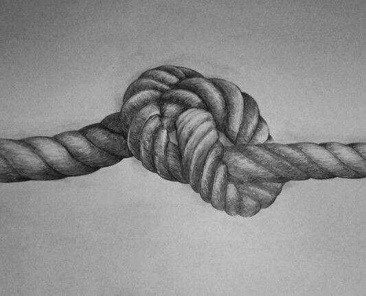 drawing of a knot in a rope drawings in 2019 rope