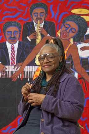"Faith Ringgold's pointed political paintings disappeared from view for more than 40 years. Spelman is honored to feature the exhibit, ""American People, Black Light: Faith Ringgold's Paintings of the 1960s,"" the first comprehensive survey of Ringgold's influential paintings."