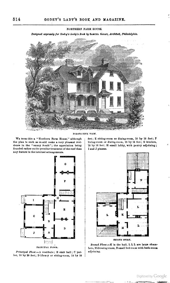 1862 floor plan godey 39 s magazine google books the for Floor plan magazines