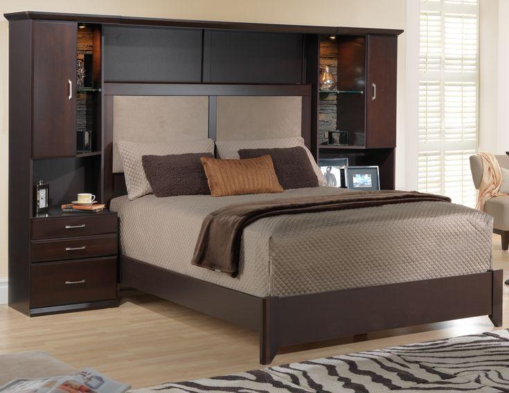 Sherwood chambres coucher lit mural 6 mcx grand for Meuble japonais futon