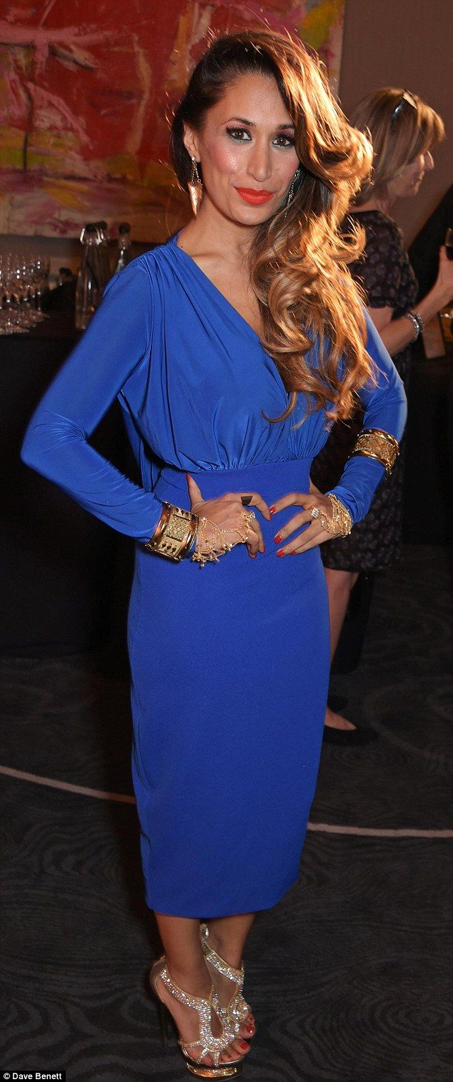 Hot to trot: Former EastEnders star and cast member Preeya Kalidas dolled up for the after...