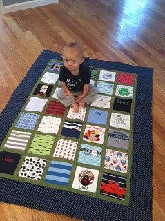 baby clothes quilt....I save special outfits, vacation t-shirts, well-snuggled pajamas for just this reason! Friends laugh at me...but I'm going to love that quilt when they are gone and I'm curled up in those memories. ~sniff~.