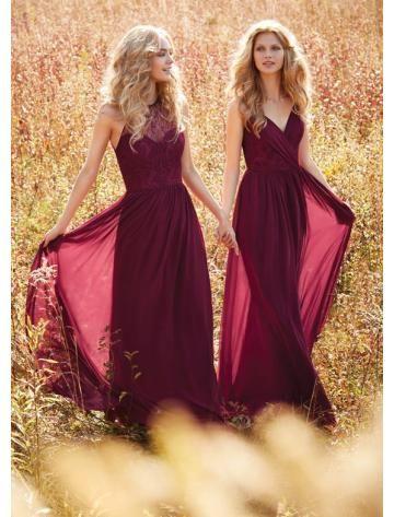 Robes de demoiselle d'honneur Mousseline