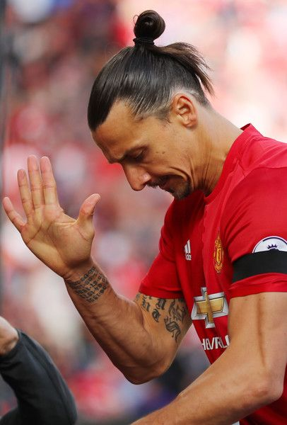 Zlatan Ibrahimovic Photos Photos - Zlatan Ibrahimovic of Manchester United reacts to missing a chance during the Premier League match between Manchester United and Stoke City at Old Trafford on October 2, 2016 in Manchester, England. - Manchester United v Stoke City - Premier League