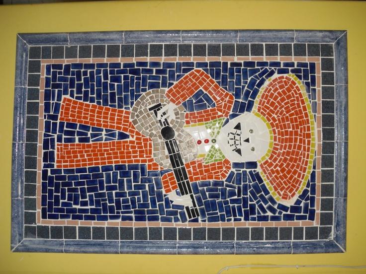 Custom designed piece as a mural