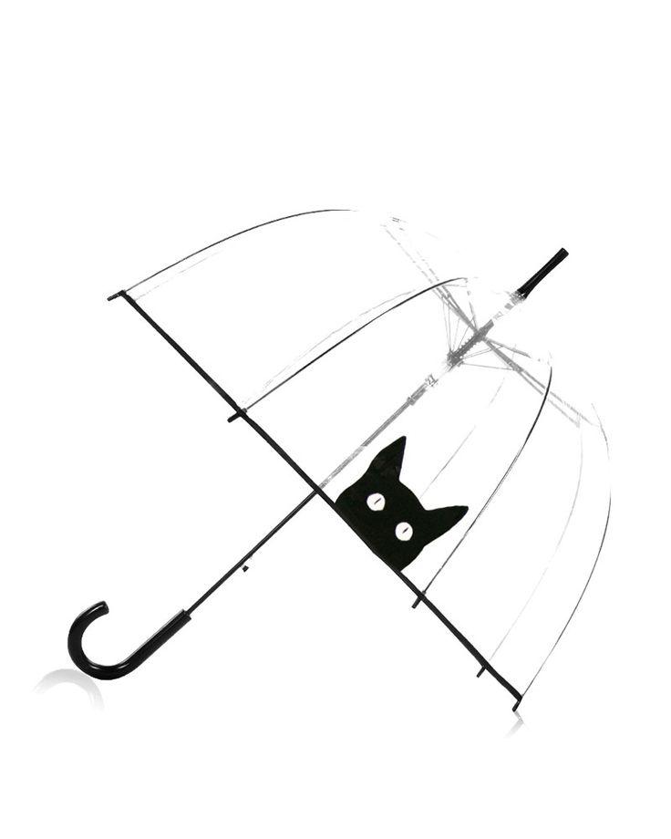 Transparentný dáždnik Kitty