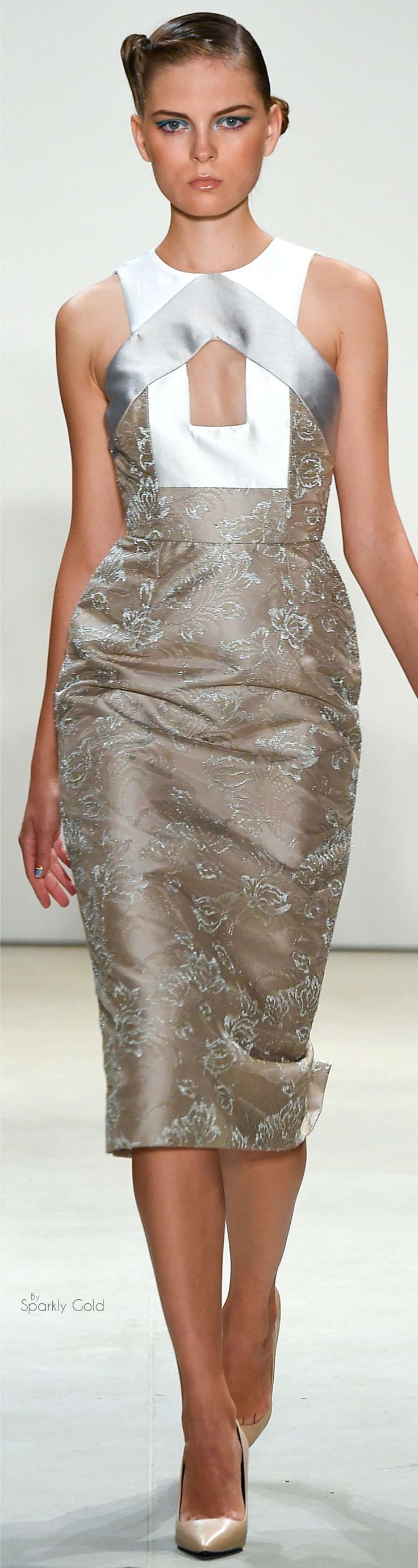 Bibhu Mohapatra Spring 2016 RTW women fashion outfit clothing style apparel @roressclothes closet ideas