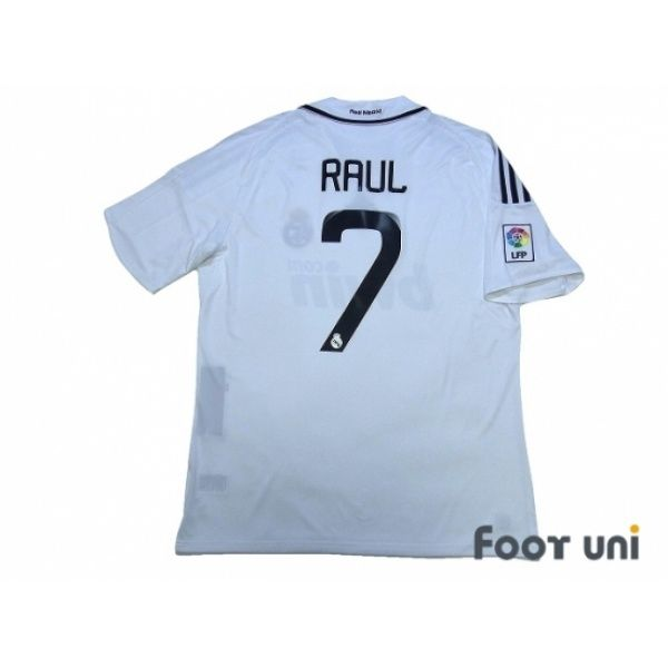 Real Madrid 2008-2009 Home Shirt #7 Raul LFP Patch/Badge w/tags #adidas - Football Shirts,Soccer Jerseys,Vintage Classic Retro - Online Store From Footuni Japan