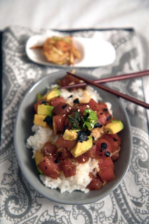 Morimotos Tekka Don No Poke (Hawaiian Poke-Style Tuna  Mein Blog: Alles rund um die Themen Genuss & Geschmack  Kochen Backen Braten Vorspeisen Hauptgerichte und Desserts