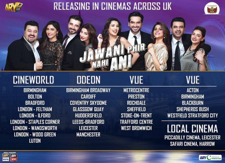 """Jawani Phir Nahi Ani"" releasing across #UK. BOOK NOW  #England #London #Birmingham #Bradford #Glasgow @Fayaz_G #JPNA"