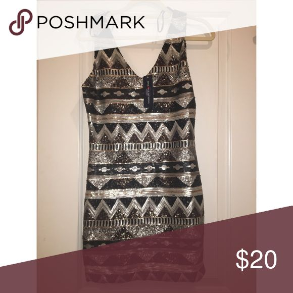 Sparkly formal dress Sparkly formal dress. Never worn. Fun pattern. one clothing Dresses Mini
