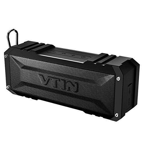 VTIN Enceinte Bluetooth Portable Stéréo 20W Haut-parleur/ Enceinte sans Fil Premium avec Radiateur Passif pour iPhone 8 8 Plus 7S 6S,…