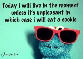 I'll probably eat cookies either way.: Cookie Monster, Word Of Wisdom, Chocolates Chips, Cookies Monsters, Quotes, New Life, Life Mottos, Funnies, I Will