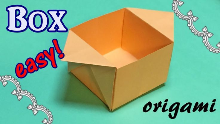 how to make a box out of paper youtube