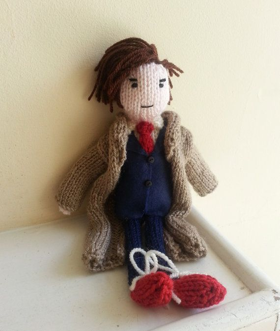 Doctor Who David Tennant doll knitting pattern by knitforvictory, $4.95