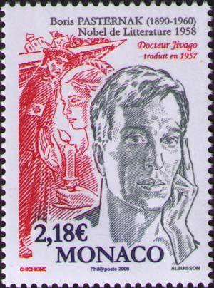 Literary Stamps: Pasternak, Boris (1890-1960) Descubra a biografia de 25 Lendas da Literatura neste E-Book Gratuito em http://mundodelivros.com/e-book-25-escritores-que-mudaram-a-historia-da-literatura/