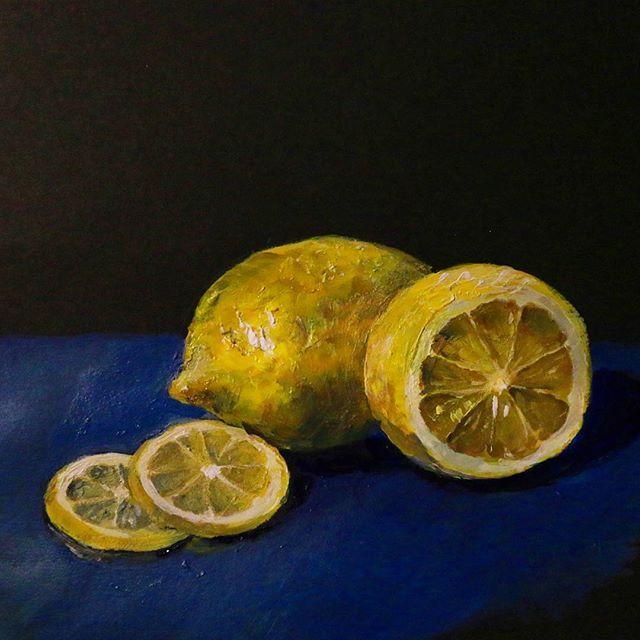 Лимони для #sketchflashmob2017 @natalie_ratkovski. Потягнуло на живопис))) #sketch #acrylic #acrylicpainting #painting #art #stilllife #yellow #lemon #sketching