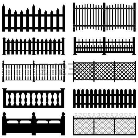 Fence Picket Wooden Wired Brick Garden Park Yard
