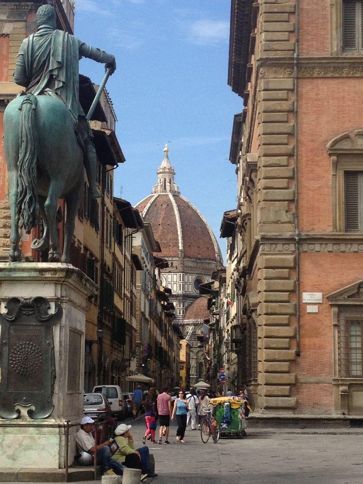 The Duomo, from Piazza Santissima Annunziata, Firenze