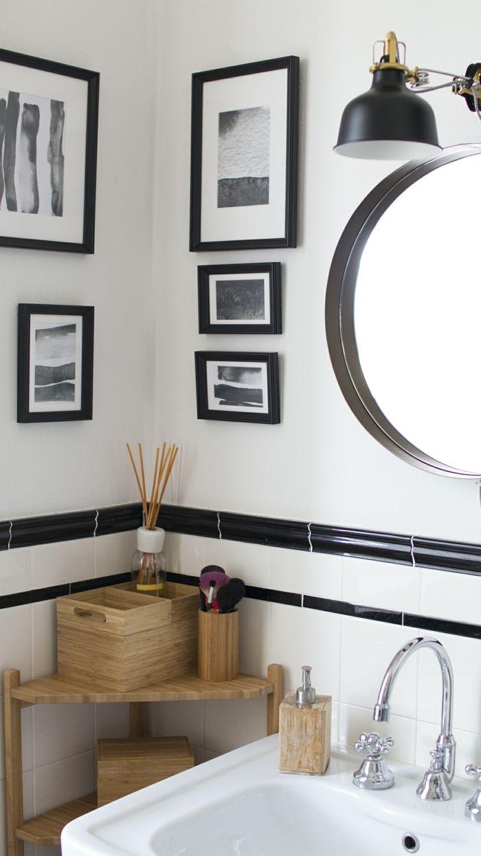 1001 ideas de cuadros para ba os modernos con estilo - Espejos redondos para banos ...