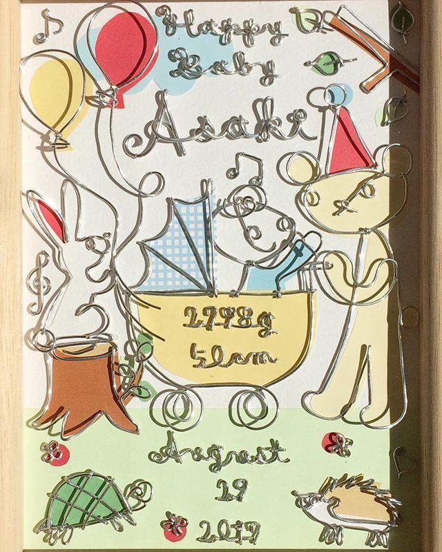 #2017.10.30#ワイヤークラフト#オーダー承ります#出産祝い#baby#happy#bear#rabbit#turtle#hedgehog#happybaby#名入れ#うさぎ#くま#かめ#ハリネズミ#カメ#ウサギ#亀#baby#craft#手作り#出産お祝い#ワイヤーアート#wirecraft #ワイヤー#針金#プレゼント#present#赤ちゃん