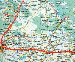 Маршрут движения от г.Ровно к г.Костополю