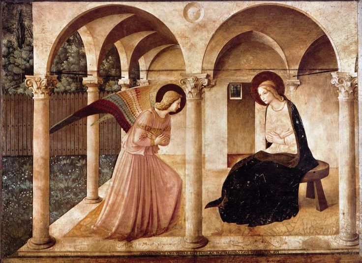 Fra Angelico, The Annunciation (Convento di San Marco, Florence), 1450