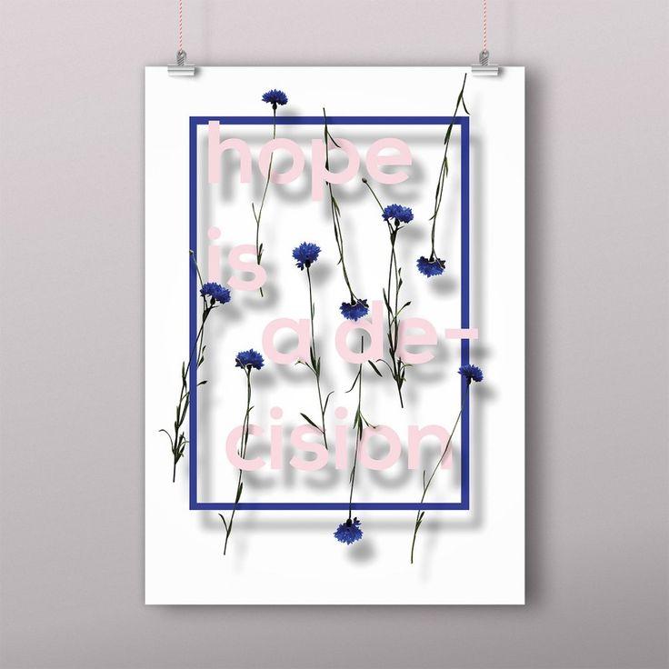 Hope is a decision -art print | Bloom By Armi Helena