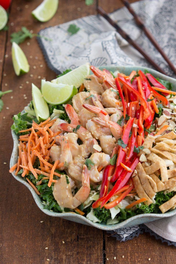 a thai shrimp salad is a filling lunch or dinner recipe - Ina Garten Shrimp Salad Recipe