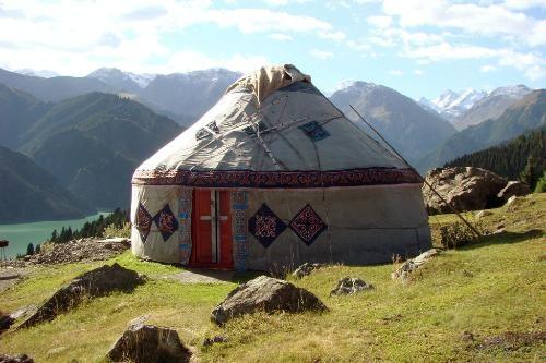 Urumqi Photos at Frommer's - A Kyrgyz yurt at Heavenly Lake in Xinjiang, China.