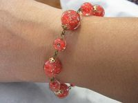 I *love* the colors in this vintage Venetian glass beads Murano glass bead bracelet