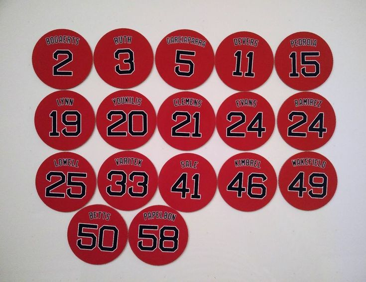 Boston Red Sox Magnets - Pick A Player - Jersey Design - Popular Red Sox Players #BostonRedSox